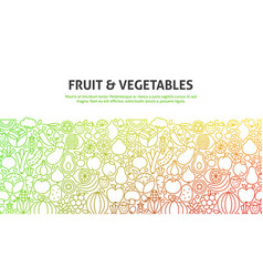 fruit and vegetables concept vector image