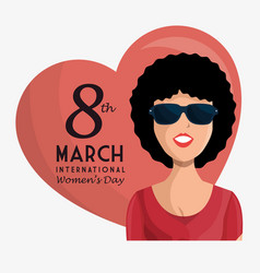 happy womens day poster vector image