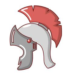 roman helmet icon cartoon style vector image
