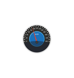 flat car speedometer isolated icon vector image