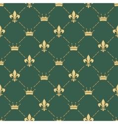 Fleur-de-lys seamless pattern vector image vector image