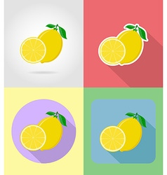 fruits flat icons 10 vector image vector image