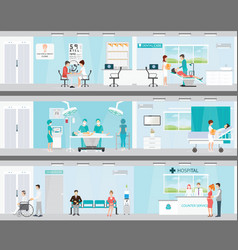 info graphic of medical services in hospitals vector image