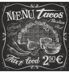 Mexican food logo design template tacos burritos vector