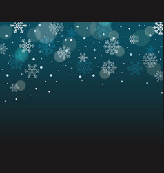 winter background with snowflakes with blank the vector image vector image