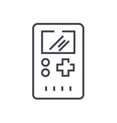 game console symbol line icon sign vector image