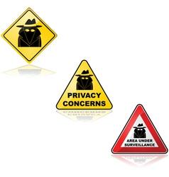 Privacy concerns vector image vector image
