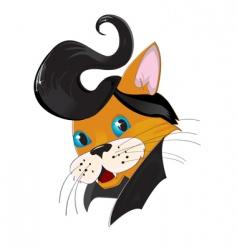 retro cat vector image