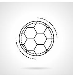 Soccer ball flat line design icon vector image