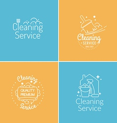 Cleaning Service Logo Set vector image