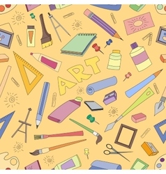 Doodle pattern of art vector image