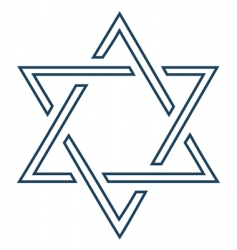 Jewish mage David star design vector image vector image