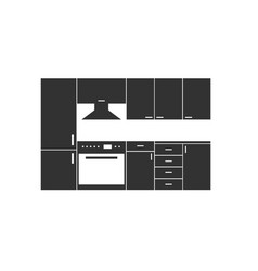 kitchen furniture in grey color vector image