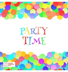 Party Seamless Pattern Confetti vector image vector image