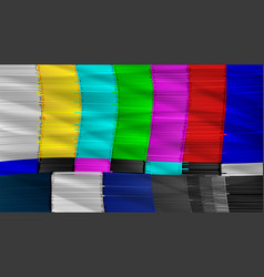 television screen with static noise caused by bad vector image vector image