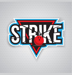 ultimate bowling chanpionship logo design vector image vector image