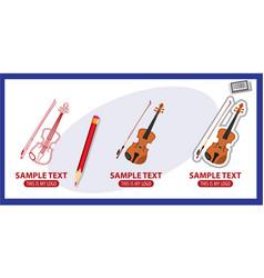 violin logo vector image