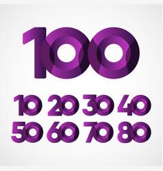 100 years anniversary celebrations purple vector