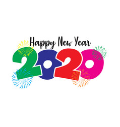 2020 happy new year vector