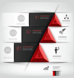 3d business origami template vector image