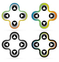 4 way arrows arrow buttons vector