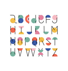 abc alphabet minimal hand drawn design vector image