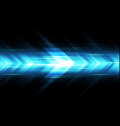 abstract blue light arrow speed power technology vector image