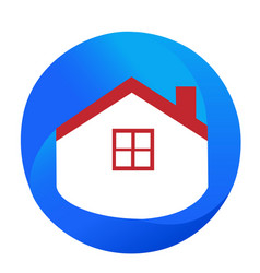 abstract house and home icon vector image