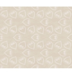Abstract seamless hand-drawn pattern with hearts vector