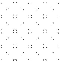 Abstract seamless pattern black and white of vector