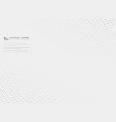 abstract wavy grey dot pattern on white vector image