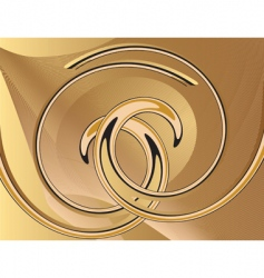 Abstract yellow background with spirals vector
