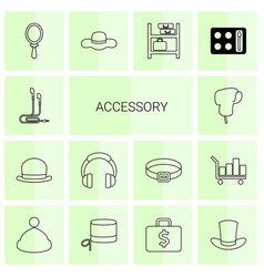 accessory icons vector image
