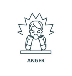 Anger line icon outline concept linear vector