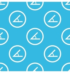 Angle sign blue pattern vector