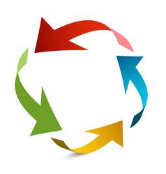 arrows in circle paper arrow vector image