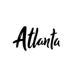 Atlanta hand-lettering calligraphy hand drawn vector