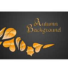 background autumn dark vector image