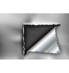 Background torn metal vector