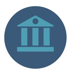 Bank flat cyan and blue colors round button vector