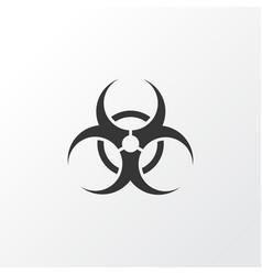 bio-hazard icon symbol premium quality isolated vector image