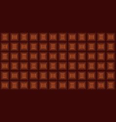 Black chocolate seamless pattern vector