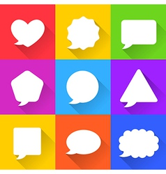 Blank Empty White Speech Bubbles Set vector image