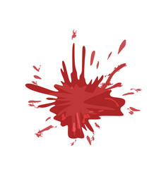 blood stain splash of red ink vector image