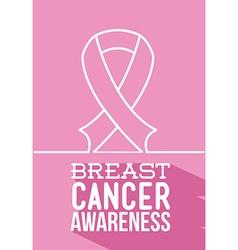 breast cancer awareness design vector image