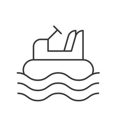 Bumper boat icon amusement park related line vector