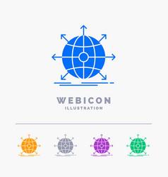 business global international network web 5 color vector image