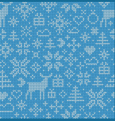 christmas seamless pattern nordic style ornament vector image