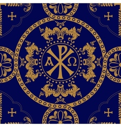 Classic orthodox seamless pattern vector
