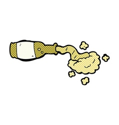 comic cartoon spilled beer vector image
